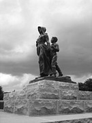Pioneer Photos - Facing the Storm Pioneer Woman Statue Oklahoma Icon   by Ann Powell