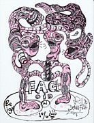 Raw Drawings Posters - Factoid Poster by Robert Wolverton Jr