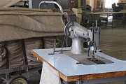 Manufacturing Posters - Factory Sewing Machine Poster by Magomed Magomedagaev