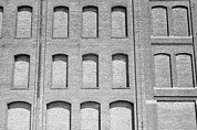 Recessions Prints - Factory Windows Bricked Print by Everett