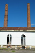 Locations Framed Prints - Factory with chimneys Framed Print by Sami Sarkis