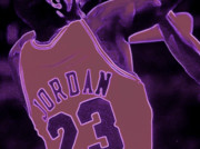 Michael Jordan Digital Art Prints - Fade Away Print by Brandon Ramquist