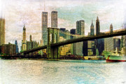 Brooklyn Bridge Prints - Fading Memories Print by Chris Lord