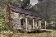 Red Roof Photos - Fading Memories by Debra and Dave Vanderlaan