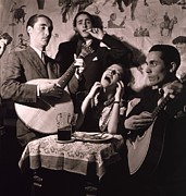 Night Cafe Photo Prints - Fado Singer In Portuguese Night Club Print by Everett