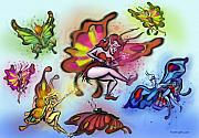 Faeries Print by Kevin Middleton
