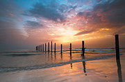 Horizon Over Water Metal Prints - Fahaheel Sunrise Kuwait Metal Print by Shahbaz Hussain