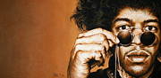 Jimmy Hendrix Paintings - fahrenheit II by Mario Pichler