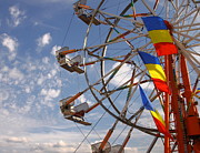 Amusement Ride Framed Prints - Fair Day Framed Print by Robert Frederick