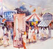 Crowds  Prints - Fair Fun Print by Joan  Jones