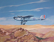 Raf Aircraft Posters - Fairey Long Range Poster by Murray McLeod