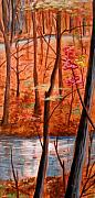 Woods Painting Originals - Fairfax Fall by Ken Meyer jr