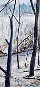Woods Painting Originals - Fairfax Winter by Ken Meyer jr
