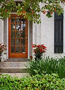 Flops Prints - Fairhope Doorway Print by Michael Thomas