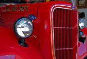 Truck Digital Art Originals - Fairhope Fire Truck by Michael Thomas