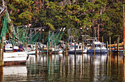 Crimson Tide Prints - Fairhope Fleet Print by Michael Thomas