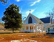 Crosses Photos - Fairhope Sacred Heart Church by Michael Thomas