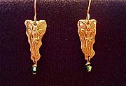 Earrings Jewelry - Fairies with swarovski crystal by Cydney Morel-Corton