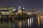 Philadelphia Skyline Photos - Fairmount Water Works - Philadelphia  by Brendan Reals
