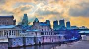 Philadelphia Digital Art Metal Prints - Fairmount Water Works Metal Print by Bill Cannon