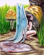 Wings Drawings - Fairy Amongst Poison by Scarlett Royal