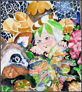Nuts Mixed Media - Fairy and Fawn by Mindy Newman
