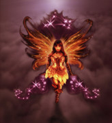 Constellations Digital Art Prints - Fairy Angel Print by Rick Ritchie