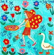 Sue Burgess Ceramics Posters - Fairy cakes Poster by Sushila Burgess