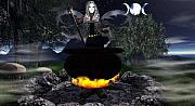 Crone Goddess Metal Prints - Fairy Cerridwen Metal Print by Eva Thomas