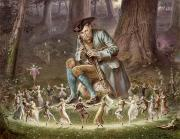 Fantasy Illustrations Prints - Fairy Dance Print by William Holmes Sullivan