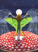 Luna Painting Posters - Fairy Dust Poster by Catherine G McElroy