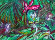 Fern Drawings - Fairy Forest by Mindy Newman