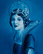 Phthalo Blue Paintings - Fairy Godmother by Eliza Furmansky