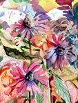 Flower Drawings Prints - Fairy Land Print by Mindy Newman