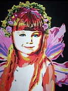 Flowers In Her Hair Posters - Fairy Lexi Poster by Jennifer Heath Henry
