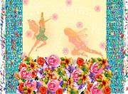 Faries Prints - Fairy Play Print by Rosalie Scanlon