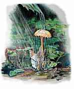 Shower Drawings Prints - Fairy Shower Print by Susan Moore