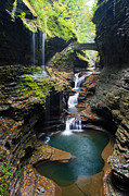 Watkins Glen Framed Prints - Fairy Tale Trail Framed Print by Adam Pender