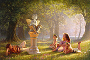 Story Books Prints - Fairy Tales  Print by Greg Olsen
