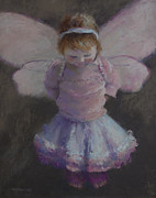 Princess Pastels Posters - Fairy Wings Poster by MaryAnn Cleary