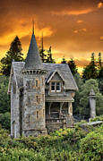 Fairyland Castle Posters - Fairytale Gatelodge Poster by Sandra Cockayne
