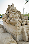 Noah Photo Framed Prints - Fairytale Sand Sculpture  Framed Print by Shay Velich