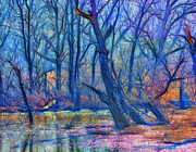Reflections Digital Art - Fairytale Swamp by Bill Tiepelman