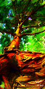 Johnny Trippick Prints - Fairytale Tree Print by Johnny Trippick
