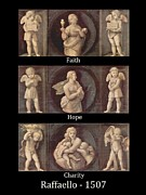Hope Paintings - Faith - Hope - Charity - 1507 by Raphael