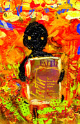 African-american Mixed Media - Faith and I Go Everywhere by Angela L Walker