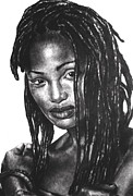 People Drawings - Faith by Curtis James