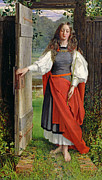 Medieval Entrance Prints - Faith Print by George Dunlop Leslie