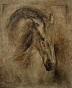 Animals Reliefs Metal Prints - Faith Metal Print by Paula Collewijn -  The Art of Horses
