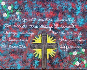 Cross Paintings - Faith by Paulette Ingersoll